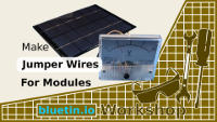 Jumper Wires connect voltmeter and solar panel