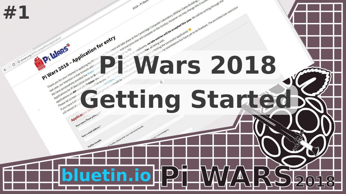 Pi Wars 2018 Competition – Getting Started
