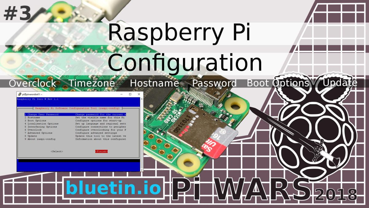 Pi Wars 2018 Raspberry Pi Configuration