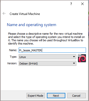 Create Raspbian Virtual Machine