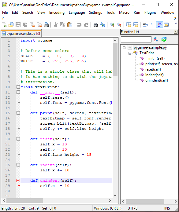Notepad++ Python Compatible Code Editor