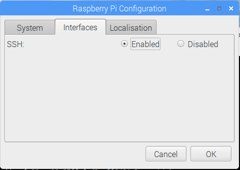Raspberry Pi Desktop Enable SSH