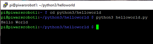 Run Hello World In Terminal