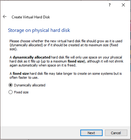 VM Storage On Physical Hard Drive