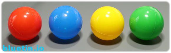 Plastic balls Red, Blue, Yellow and Green