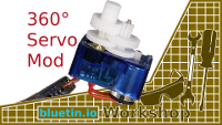 360 Degree Mod for Servo Motor Continuous Rotation