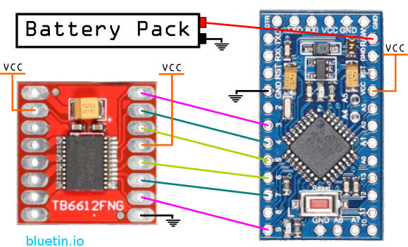 Tb fng dual dc motor driver and arduino circuit guide