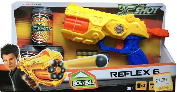 X Shot Reflex 6 Toy Dart Gun