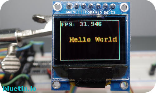 SSD1331 Display Module Animation Example Using PIL
