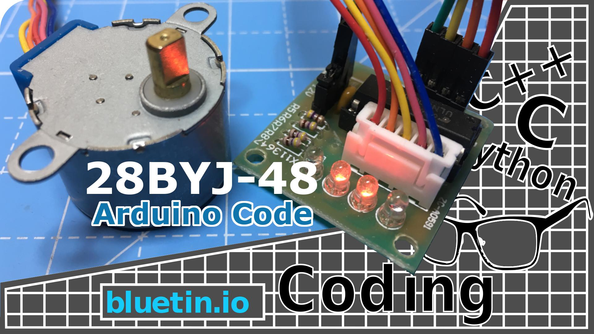 28BYJ-48 Stepper Motor With Driver Code For Arduino - bluetin io