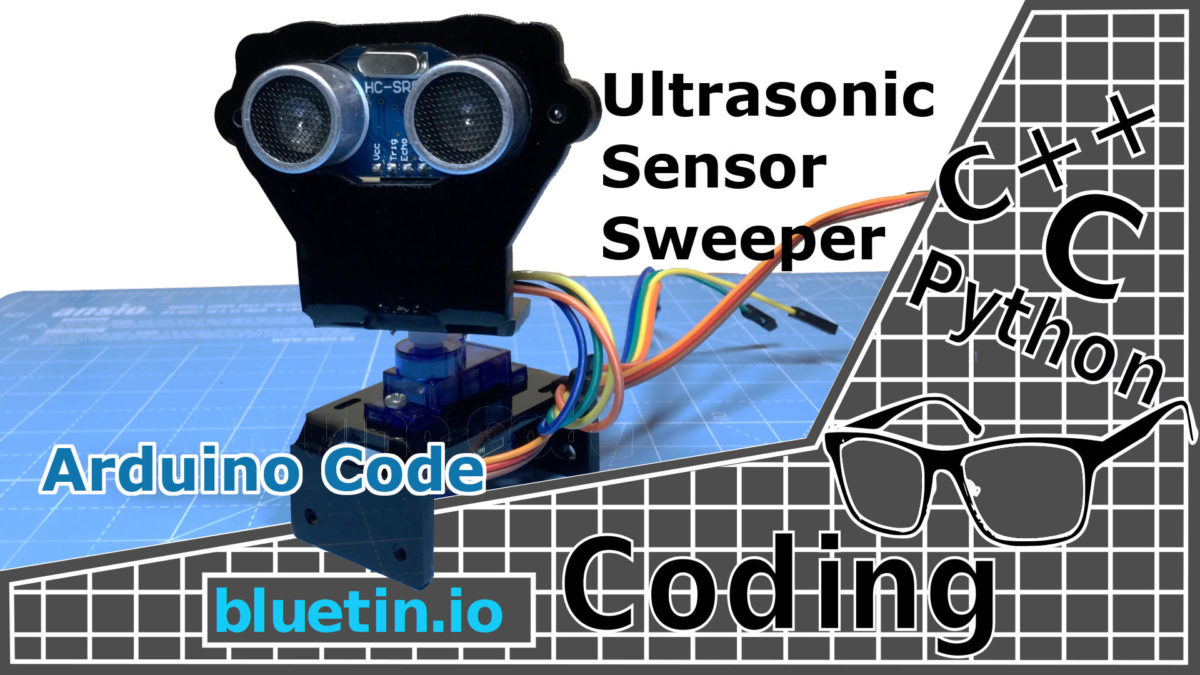 Ultrasonic Sensor Sweeper with Servo and Arduino Code